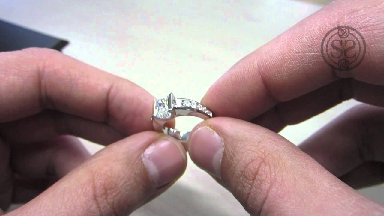 wedding rings engagement diamond solitaire products firemark princess radiant set ring cut