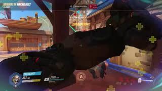Blizzard World Reinhardt Fire Strike Sniping Ashe