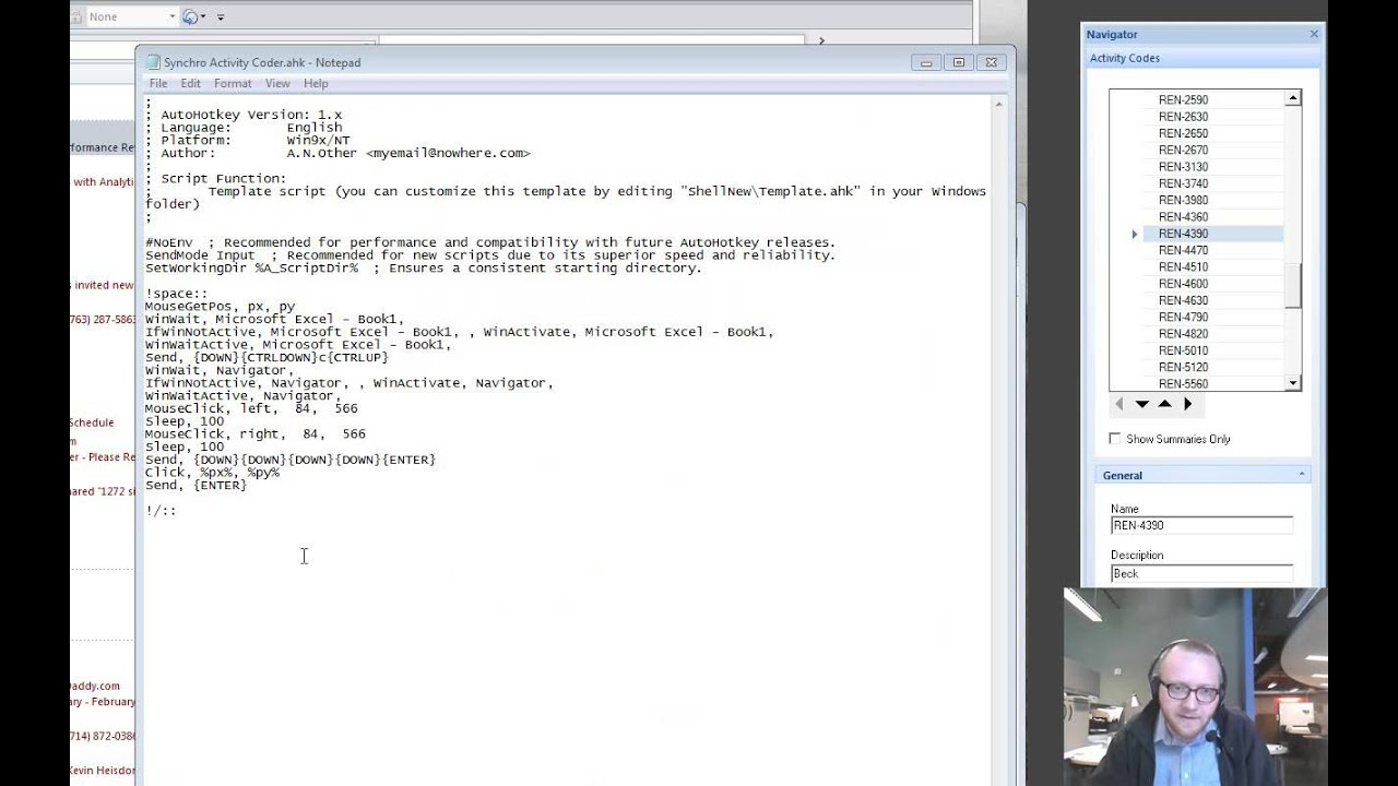 Advanced: Example of a Simple Autohotkey Script for Synchro/Excel ...