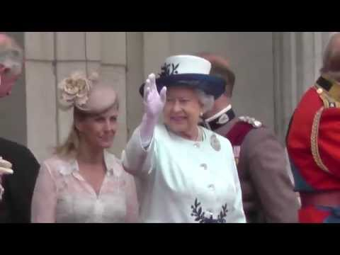 Trooping The Colour Amazing Highlights filmed from The Mall, London, 14th June 2014