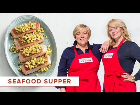 This Solution Will Help You Cook Perfectly Cooked PanSeared Salmon and Shrimp Scampi