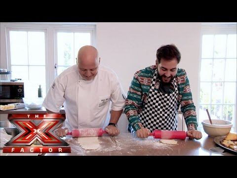 Andrea learns how to cook with Aldo Zilli | The Xtra Factor UK 2014