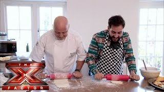 Andrea learns how to cook with Aldo Zilli  The Xtra Factor UK 2014