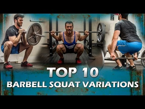 Top 10 Barbell Squat Variations Best and Most Popular