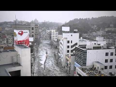 2011年3月11日 15時54分〜 塩釜港の津波 tsunami shiogama