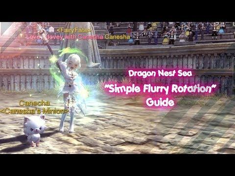 Dragon Nest Sea - Simple Flurry Rotation Tips (English Ver)