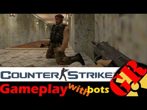 Counter-Strike v1.6 gameplay with Hard bots - Inferno - Counter-Terrorist