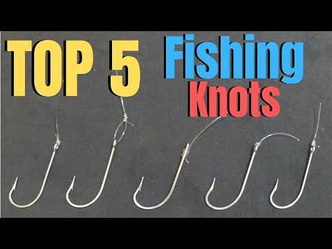 How to tie FISHING KNOTS | TOP 5 Fishing Knots