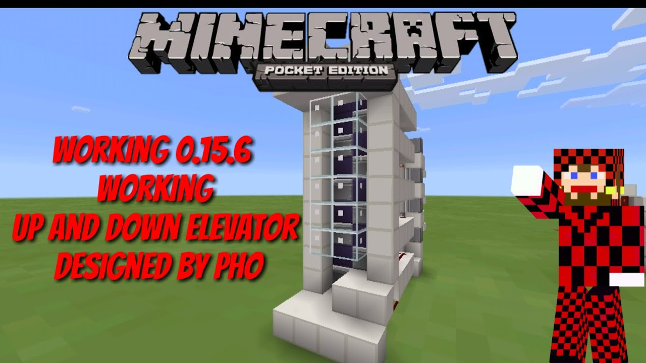 How To Make Up Down Piston Elevator Redstone Tutorial 1 2