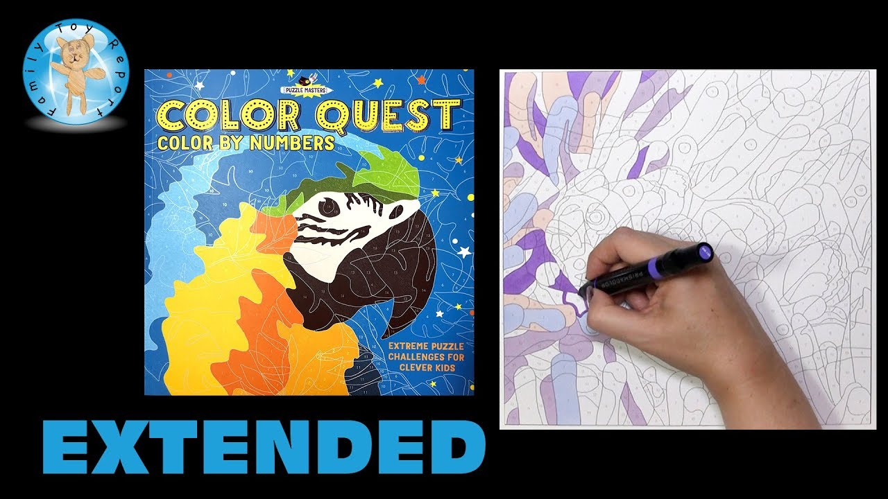 Barron S Color Quest Color By Number Puzzle Book Coloring Extended Family Toy Report Youtube
