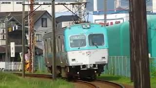 [警笛あり]岳南電車 7000形 本吉原駅付近通過[元/京王3000系]