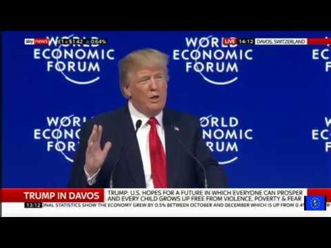 Donald Trump's Davos speech overshadowed by Mueller firing claims