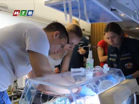 ТРК ИТВ: Санборт МЧС доставил из Крыма в Санкт Петербург двух детей, нуждавшихся в срочной медпомощи