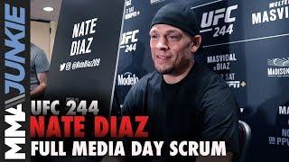 UFC 244: Nate Diaz media day scrum
