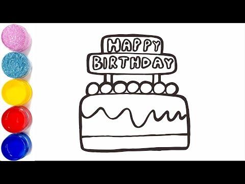 dessiner-un-gâteau-d'anniversaire-pour-bébé-coloriage-gâteau-pour-les-enfants