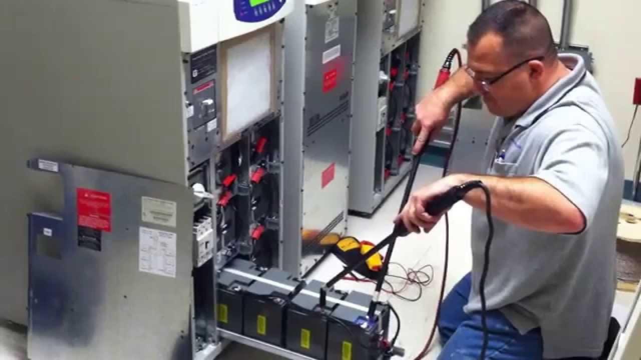 Preventative Maintenance Inspection on UPS batteries for data center  YouTube