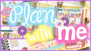 Plan With Me! #10 ♥ Sept 7-13 ❤️ Donut Theme ft. Sunshine Planner