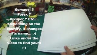 Review and tutorial for the Komacel (expanted plastic) a really great materials