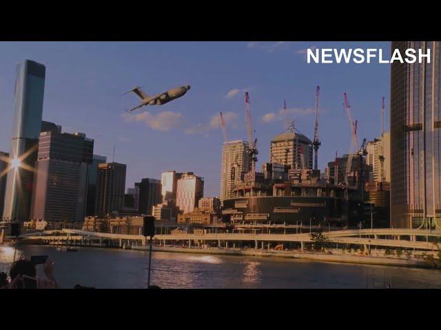 Australia Flexes Military Might With Impressive Air Show In Brisbane City Centre