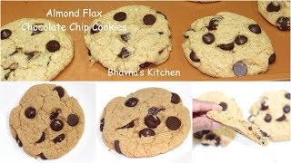 The Best Almond Flax Chocolate Chip Cookies Video Recipe | Bhavna