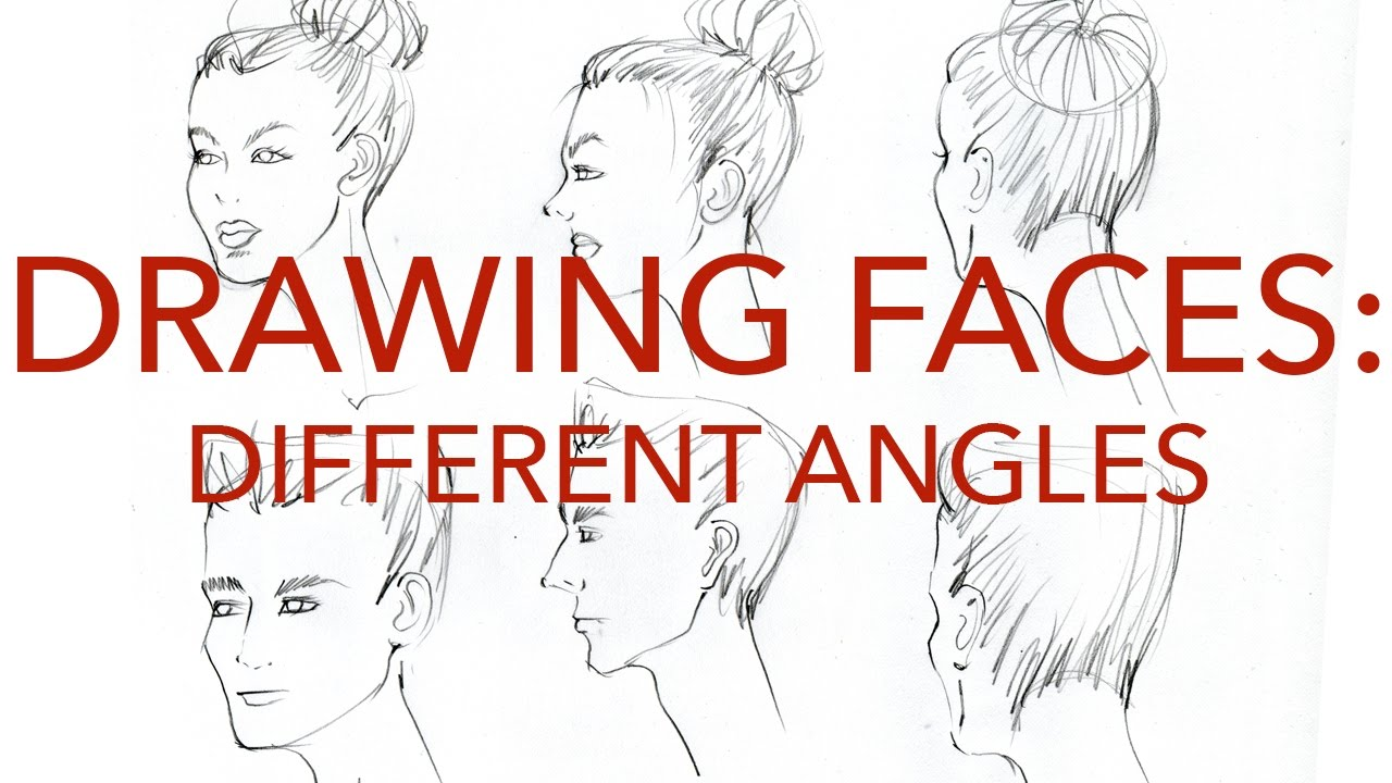 Fashion Faces Tutorial 2: Drawing Different Angles: Male ...