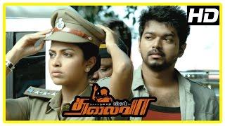 Thalaiva Movie Scenes | Vijay supports the people and gets arrested | Amala Paul saves Vijay