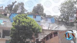 Se derrumban 19 casas en Tijuana