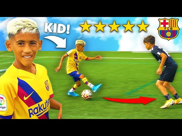 I Challenged KID Footballers To a PRO Football Competition (7 YEAR OLD MESSI)