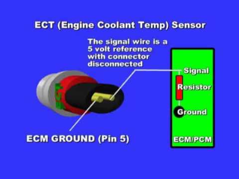 Eclipse Camshaft Position Sensor Wiring Diagram Engine Coolant Temperature Sensor Youtube