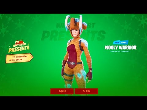 How To Get WOOLLY WARRIOR Skin Early in Fortnite..