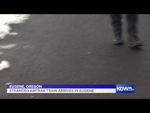 Watch: In Eugene, Oregon, Awaiting The Arrival Of Stranded Amtrak Train