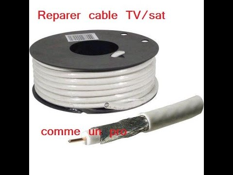 Reparer cable d 39 antenne comme un pro youtube for Cable passe fenetre pour parabole satellite