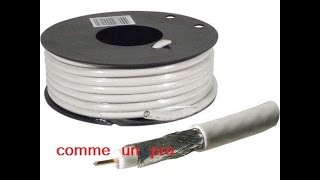 Reparer cable d'antenne comme un pro