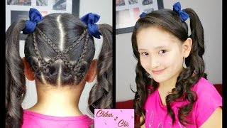 Accented Criss-Cross Pigtails! | Sport Hairstyles | Cute Girly Hairstyes