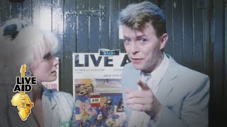 David Bowie - Backstage Interview (Live Aid 1985)