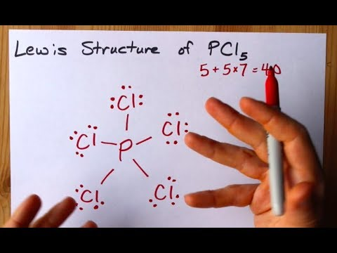 How To Draw The Lewis Structure Of Pcl5 Phosphorus Pentachloride Youtube Five pairs will be used in the chemical bonds between the p and cl. how to draw the lewis structure of pcl5 phosphorus pentachloride
