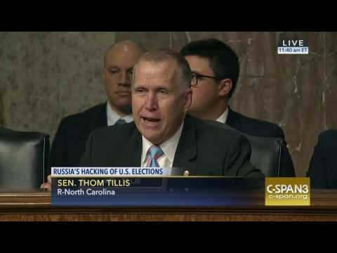 Senator Thom Tillis  81 US interventions in elections