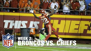 Peyton Manning Tosses 55-Yard PICK SIX to Chiefs Rookie Marcus Peters | Broncos vs. Chiefs | NFL