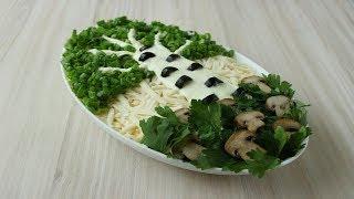 "Салат "" Белая Берёзка "" / Huş Ağacı Salatası Tarifi / Salad "" White Birch "" Recipe"