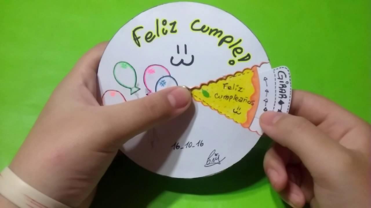 Tarjeta carta giratoria, regalo de cumpleaños para mi hermano YouTube