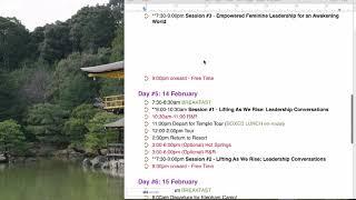 Retreat Schedule Feb 2018