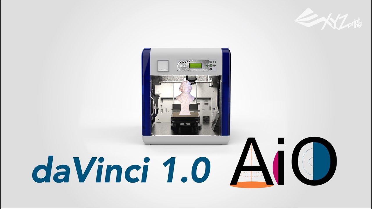 Xyzprinting davinci 1 0 aio all in one 3d printer italian youtube - 3d printer italia ...