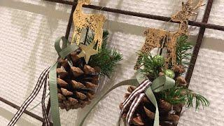 DIY CHRISTMAS DECO Dekoracja z szyszki na Boże Narodzenie.