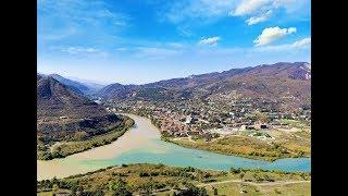 ДЖВАРИ, слияние двух рек, Грузия, Мцхета, в Грузию на машине май 2018