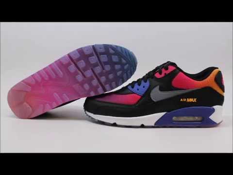 sports shoes 14d80 ed7a3 Nike Air Max 90 SD Rainbow 724763-005 KixRx.com Black Persian Violet-Pink  Mens - YouTube