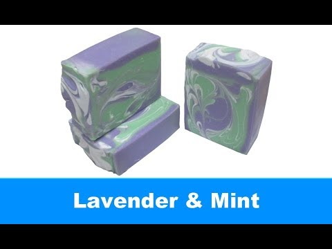 Lavender & Mint, Cold Process Soap Making and Cutting