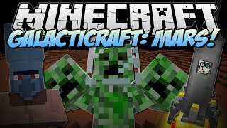 Minecraft | GALACTICRAFT: MARS! (3 HEADED CREEPER BOSS!) | Mod Showcase