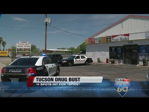 """11 spots in Tucson raided for """"spice"""""""