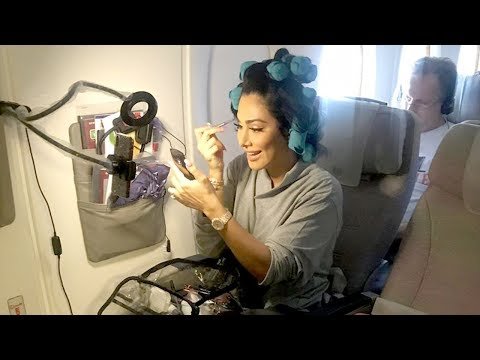 Full Glam On The Plane... In Economy thumbnail