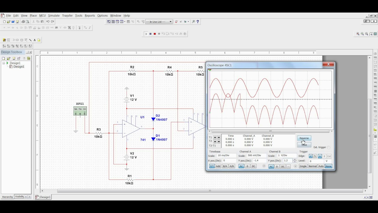 Precision Full Wave Rectifier Simulation Youtube Diagram